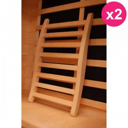 Lot de 2 Dossiers Confort pour Sauna PoolMarina Selects