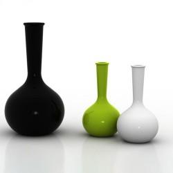 Chemistubes エリアの花瓶サラマーゴ財団黒 65