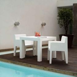 Jut Mesa 90 Table Haute Vondom Blanc