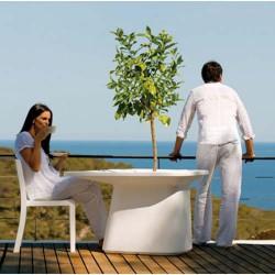 Moma Medium Table Jardiniere Vondom Blanc