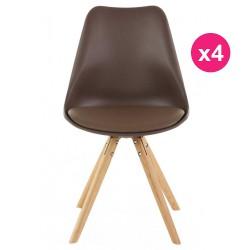 Set of 4 chairs Mole base oak KosyForm
