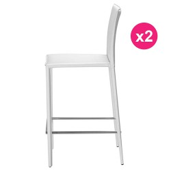 Set of 2 chairs white KosyForm work Plan