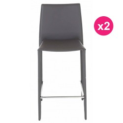 Set of 2 chairs Work Plan gray KosyForm