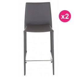Set of 2 chairs Work Plan gray KosyForm