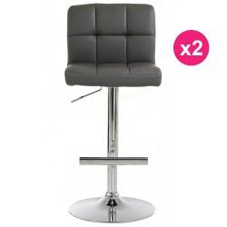 Set of 2 stools Bar gray KosyForm