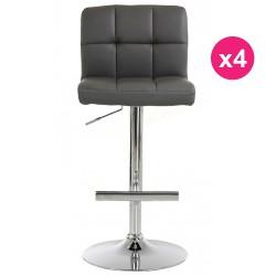 Set of 4 stools Bar gray KosyForm