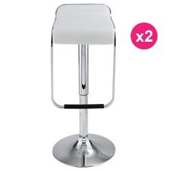 Set of 2 white KosyForm Bar stools