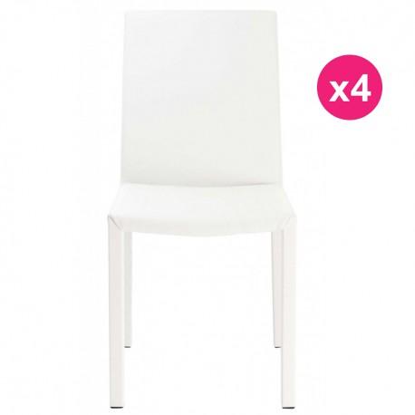 Lot de 4 Chaises Design Blanche KosyForm