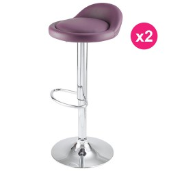 Set of 2 Violet KosyForm Bar stools