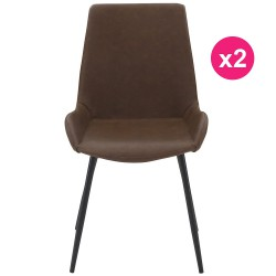 Set of 2 chairs Brown KosyForm