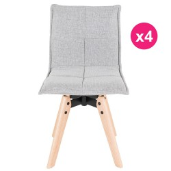 Set of 4 chairs fabric gray KosyForm