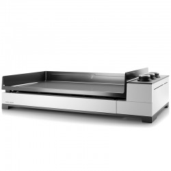 Plancha gas Forge Adour Premium G75 3 burners 9000 W white steel and enamelled cast-iron plate