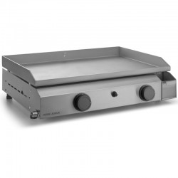 Plancha Gaz Forge Adour Base 2 Bruleurs 7200 W 60 cm Stainless Plate and Box