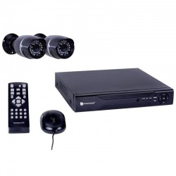CCTV wired with Recorder 4 channel comes with 2 Cameras outdoor Smartwares