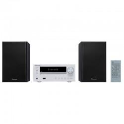 Pioneer Micro Chaine Silver avec Lecteur CD et Bluetooth