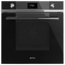Smeg multifunction pyrolysis Design black stainless steel Elite electronic oven