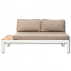 Canapé Sofa de Jardin KosyForm Lounge Design Blanc Aluminium