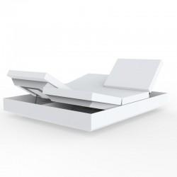 Transat Vela Daybed Vondom Blanc Mat Inclinable