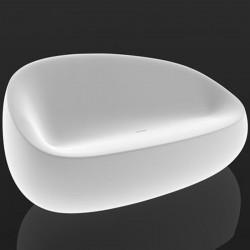 ضوء الحجر فوندوم أريكة بيضاء أريكة
