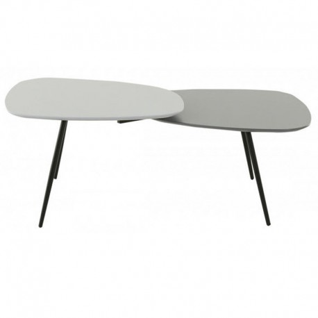 Low rectangular table lacquered grey 2 trays Scany KosyForm
