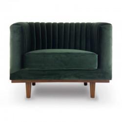 Chair in Velvet green Mantis KosyForm
