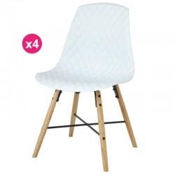 Набор из 4 стулья полипропиленовый белый дуб виги KosyForm база