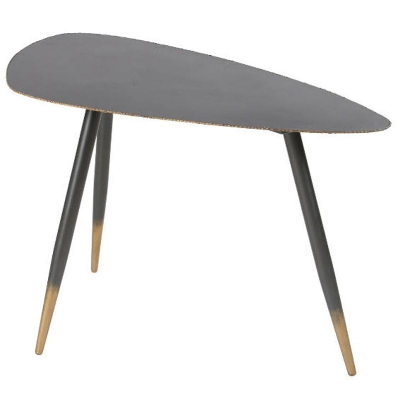 Tisch Niedrig Metall Schwarz 80 Ricci Kosyform Design