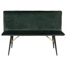 Bench in Velvet green Roma KosyForm
