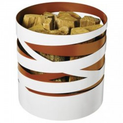 Storage in wood copper ribbon and white Dixneuf Design