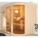 Sauna a vapore angolare tradizionale finlandese 2-4 posti Ulla Prestige - esclusivo VerySpas
