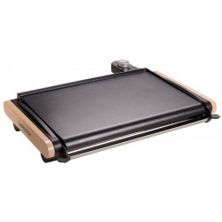 Plancha Lagrange wood and aluminum non-stick electric