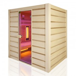Traditional sauna Combi Holl's hybrid