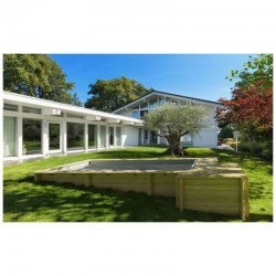 Piscine Urbaine Procopi en Bois 420 x 350 x H 133 Couverture Automatique
