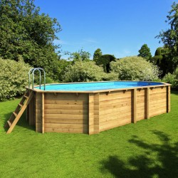 Pool wood above ground TROPIC octagonal + 523 x 313 BWT myPOOL