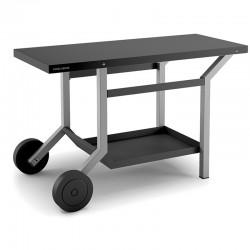 Rolling table steel black and light grey for Planchas forge Adour
