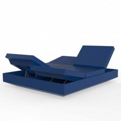 Deckchair Vela daybed recliner Vondom Navy Blue