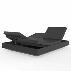 Reclining couch Vela daybed Vondom anthracite