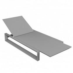 Transat Chaise Longue Frame Vondom Gris Acier Mat