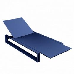 Transat Chaise Longue Frame Vondom Bleu Mat