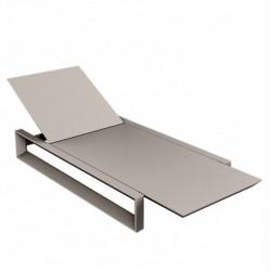 Transat Chaise Longue Frame Vondom Taupe Mat