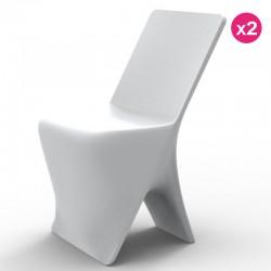 مجموعه من 2 الكراسي فوندوم تصميم Sloo الأبيض