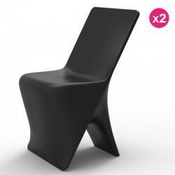 Juego de 2 sillas VONDOM diseño Sloo negro