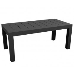 Jut Mesa 180 Vondom Anthracite Rectangular Table