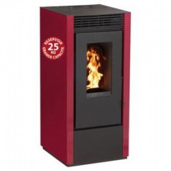 Interstoves 10Kw Economic Granule Stove with Marina Bordeaux Remote Control