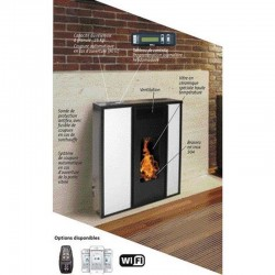 Etanche 10Kw Interstoves WiFi Tessa White Pellet Stove