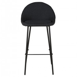 Lot of 2 Bar Chairs in Dark Grey Fabric Aya KosyForm