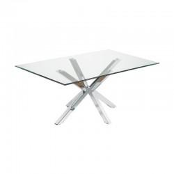 Table à Manger Verre et Chrome Rectangulaire 180 Doli KosyForm