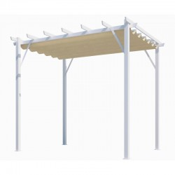Pergola Aluminium Habrita Anthracite 12m2 with shade canvas