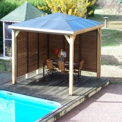 Blueterm wooden garden kiosk 12.32 m2 with 2 Habrita Walls