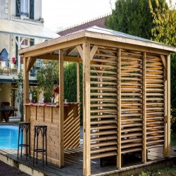 Gartenkiosk Blueterm Holz 12.32 m2 mit 2 Wänden Habrita